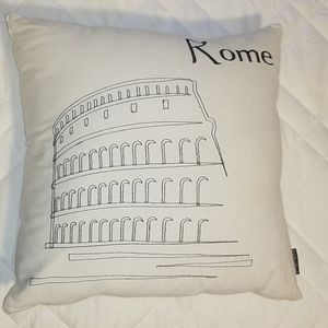 White 18x18 throw pillow cover AND pillow